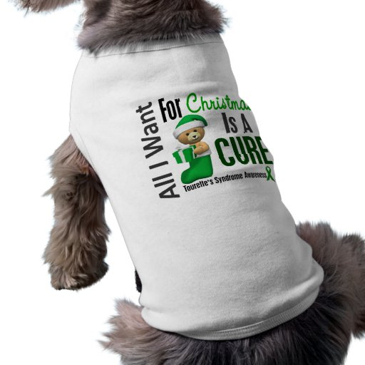 All I Want For Christmas Tourette's Syndrome Dog Tshirt
