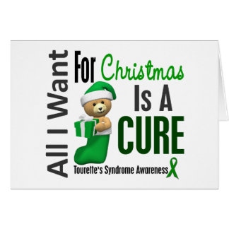 All I Want For Christmas Tourette's Syndrome Greeting Card
