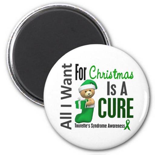 All I Want For Christmas Tourette's Syndrome Fridge Magnets