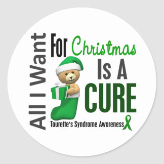 All I Want For Christmas Tourette's Syndrome Round Sticker