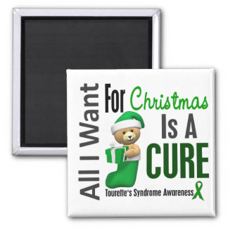 All I Want For Christmas Tourette's Syndrome Square Magnet