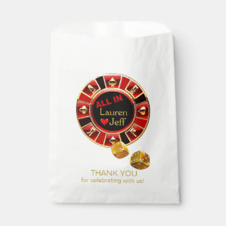 All In Casino Chip Las Vegas Style Wedding Favour Bags