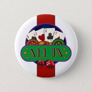 All In Casino Poker 6 Cm Round Badge