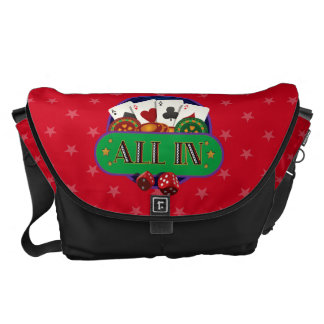 All In Casino Poker Courier Bag