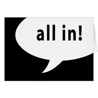 all in! poker night : comic speech bubble card