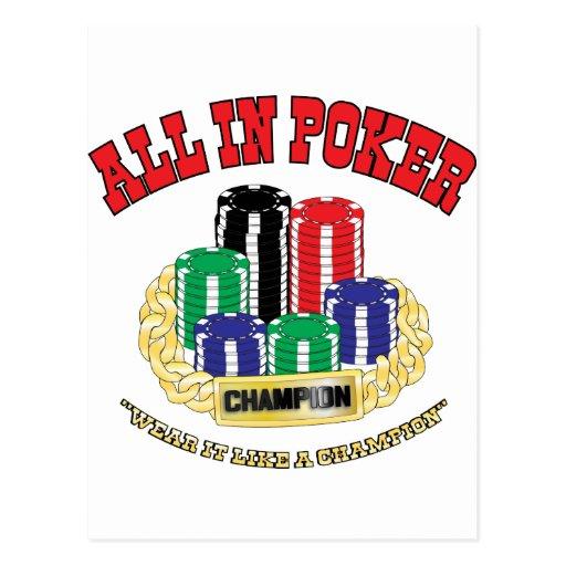 All In Poker Postcard