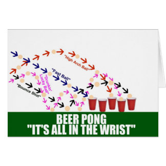 All in the Wrist Beer Pong Card
