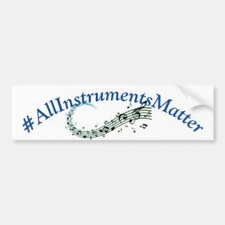 All Instruments Matter Bumper Sticker