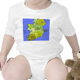 All Irish Map of Ireland Baby Bodysuit