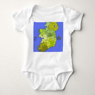 All Irish Map of Ireland Shirt