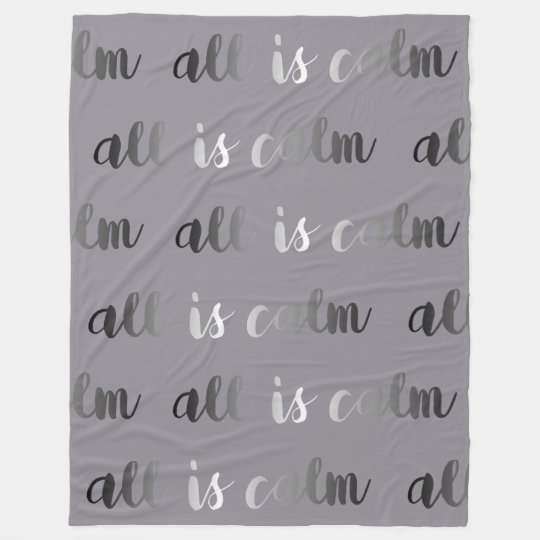 All is Calm Dusty Purple and Silver Christmas Fleece Blanket