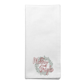 All is Merry and Bright (Plain) Napkins