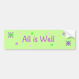 All is Well Bumper Sticker with stars!
