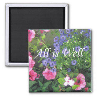 all is well flowers magnet