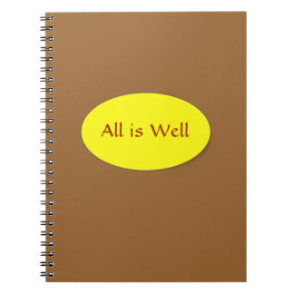 All is Well notebook