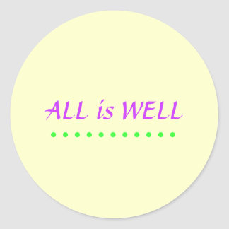 All is Well sticker yellow