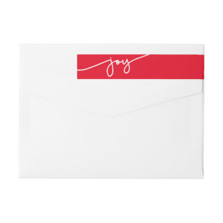 All Joy Modern Holiday Return Address Label