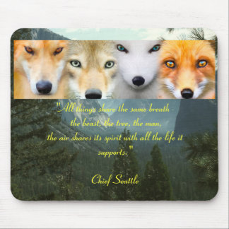 """All Life"" Chief Seattle Mouse Pad"