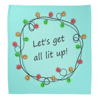 """""""All Lit Up"""" funny party bandana"""