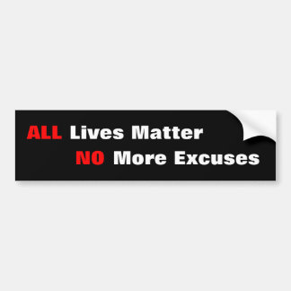 """All Lives Matter"" Black Bumper Sticker"