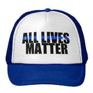 All Lives Matter thin blue line hat
