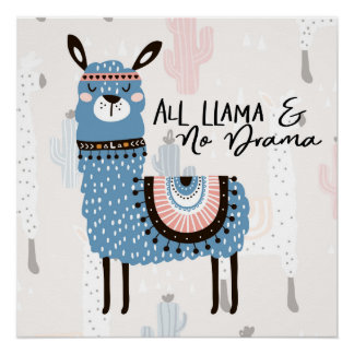 All Llama and No Drama Poster