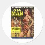 All Man, May 1959 Classic Round Sticker