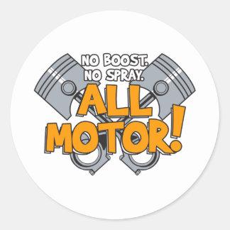 All Motor Design Classic Round Sticker