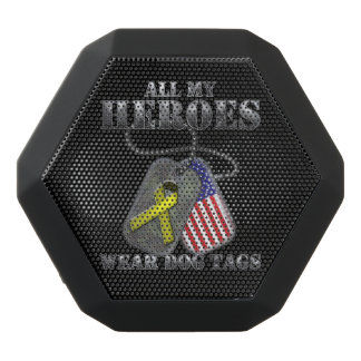 All My Heroes Wear Dog Tags Black Boombot Rex Bluetooth Speaker