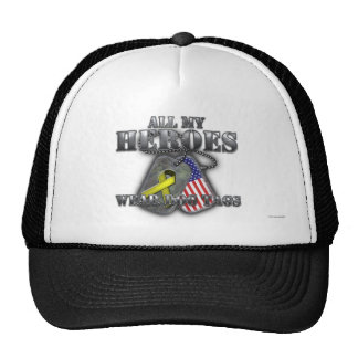 All My Heroes Wear Dog Tags Cap