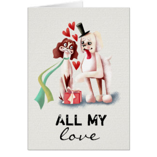All My Love   Valentines Day Card