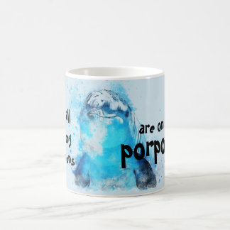 All my puns are on porpoise funny mug