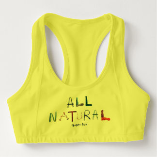 All Natural - Yellow Sports Bra
