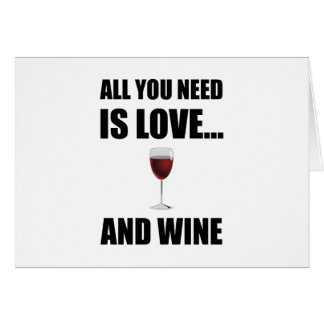 All Need Love Wine Card