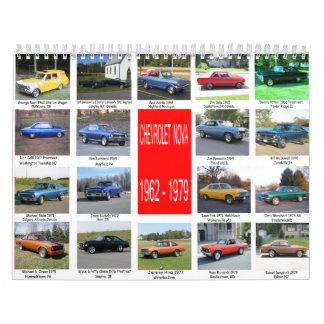 All Novas from 1962-1979 Calendar