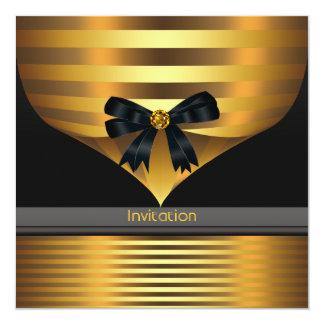 All Occasion Black Gold Party Invitation Template