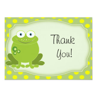 All Occasion Frog Thank You Note 13 Cm X 18 Cm Invitation Card