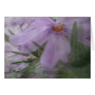 All Occasion Greeting Card-Silky Lavender Flowers Card