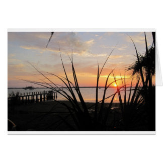 All-occasion greeting card with photo of sunset
