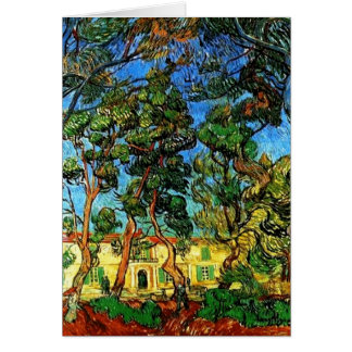 All Occasion VanGogh Grounds of the Asylum Card