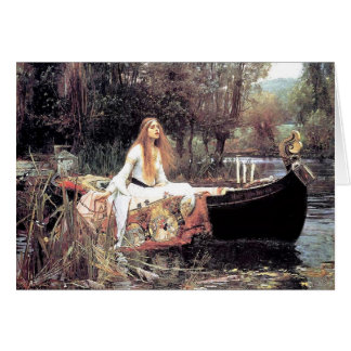 All Occasion Waterhouse The Lady of Shallot Note Card