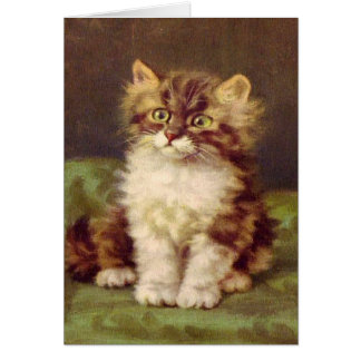All Occasions Kitty Vintage Greeting Card