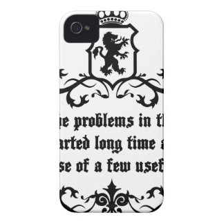 All Of  he Problems In The World ..quote iPhone 4 Case-Mate Case