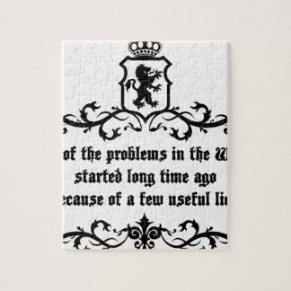 All Of  he Problems In The World ..quote Jigsaw Puzzle