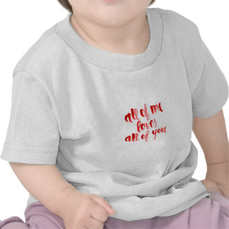 ALL OF ME LOVES ALL OF YOU FLIRTING SAYINGS EXPRES T SHIRT