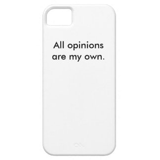 All opinions are my own. - iPhone 5/5s Case