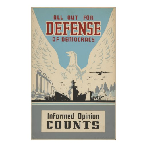 All Out for Defense of Democracy Print