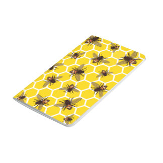 All Over Bees on Honeycomb Notebook