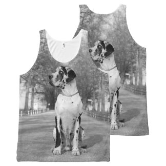 All over Great DAne All-Over Print Singlet