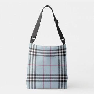 All Over Print Cross Body - Blue Plaid Crossbody Bag